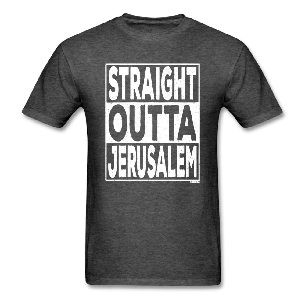 Straight Outta Jerusalem Unisex T-Shirt - heather black