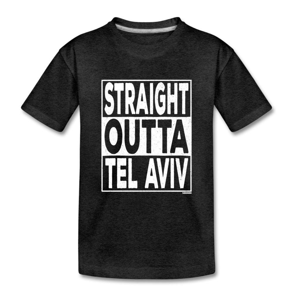 Straight Outta Tel Aviv Kids' Premium T-Shirt - charcoal gray