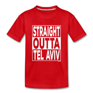 Straight Outta Tel Aviv Kids' Premium T-Shirt - red