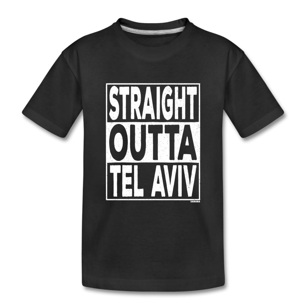 Straight Outta Tel Aviv Kids' Premium T-Shirt - black