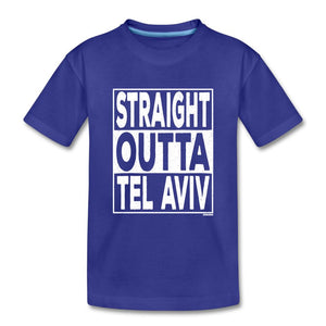 Straight Outta Tel Aviv Kids' Premium T-Shirt - royal blue