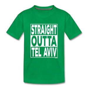 Straight Outta Tel Aviv Kids' Premium T-Shirt - kelly green