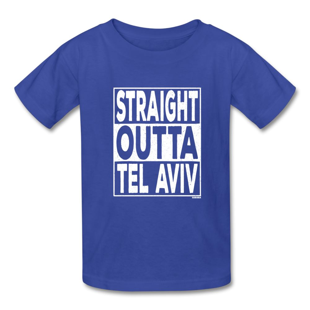 Straight Outta Tel Aviv Kids' T-Shirt - royal blue