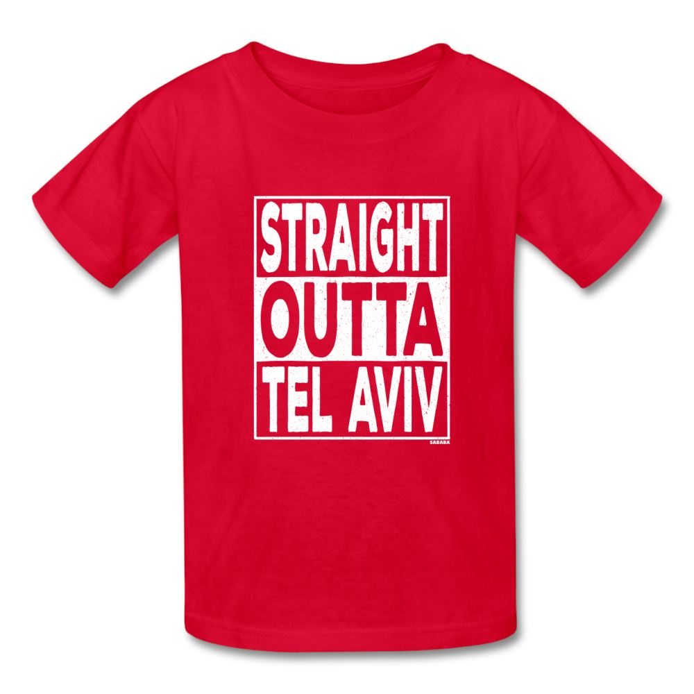 Straight Outta Tel Aviv Kids' T-Shirt - red
