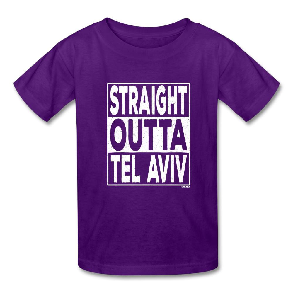Straight Outta Tel Aviv Kids' T-Shirt - purple