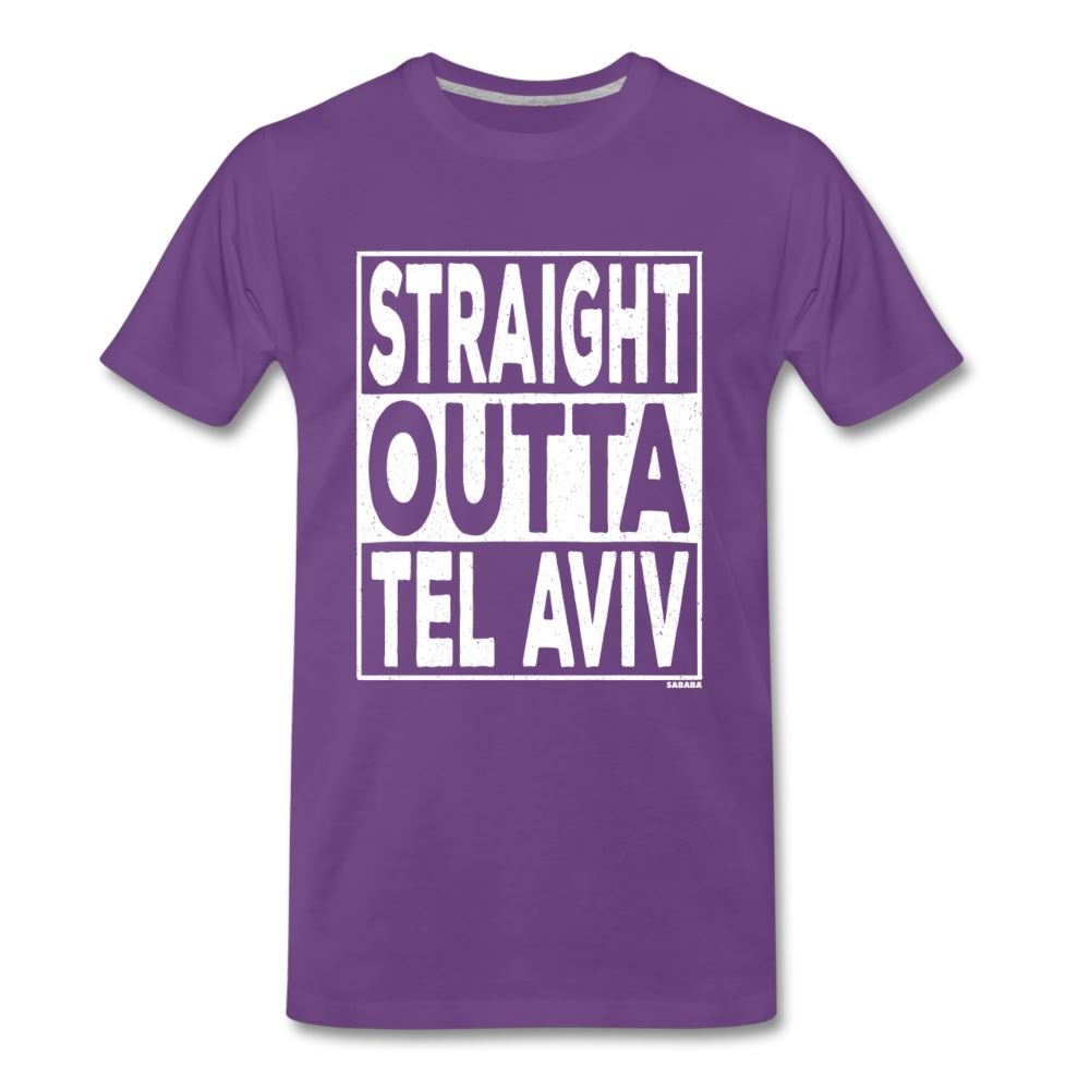 Straight Outta Tel Aviv Men's Premium T-Shirt - purple