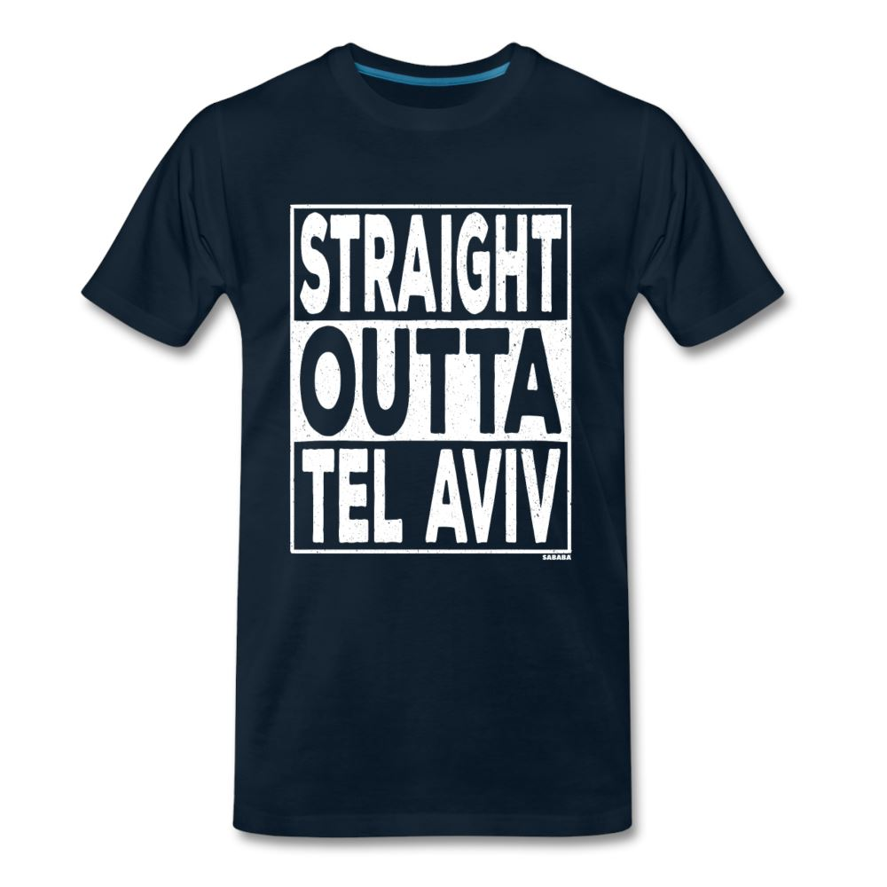 Straight Outta Tel Aviv Men's Premium T-Shirt - deep navy