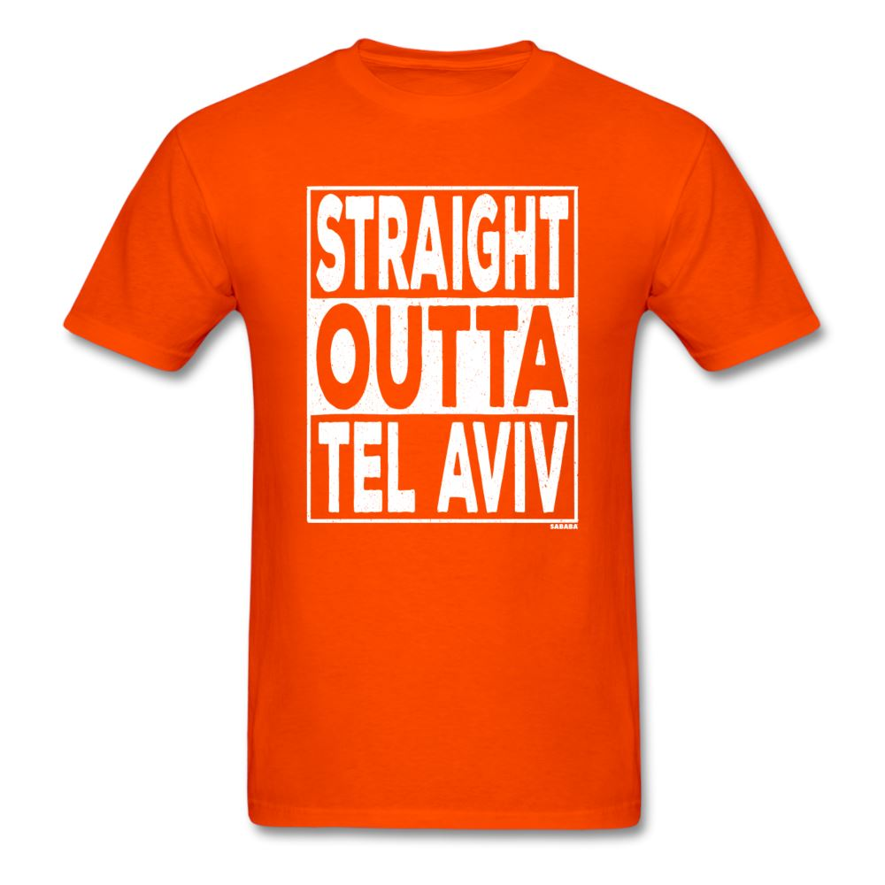 Straight Outta Tel Aviv Unisex T-Shirt - orange