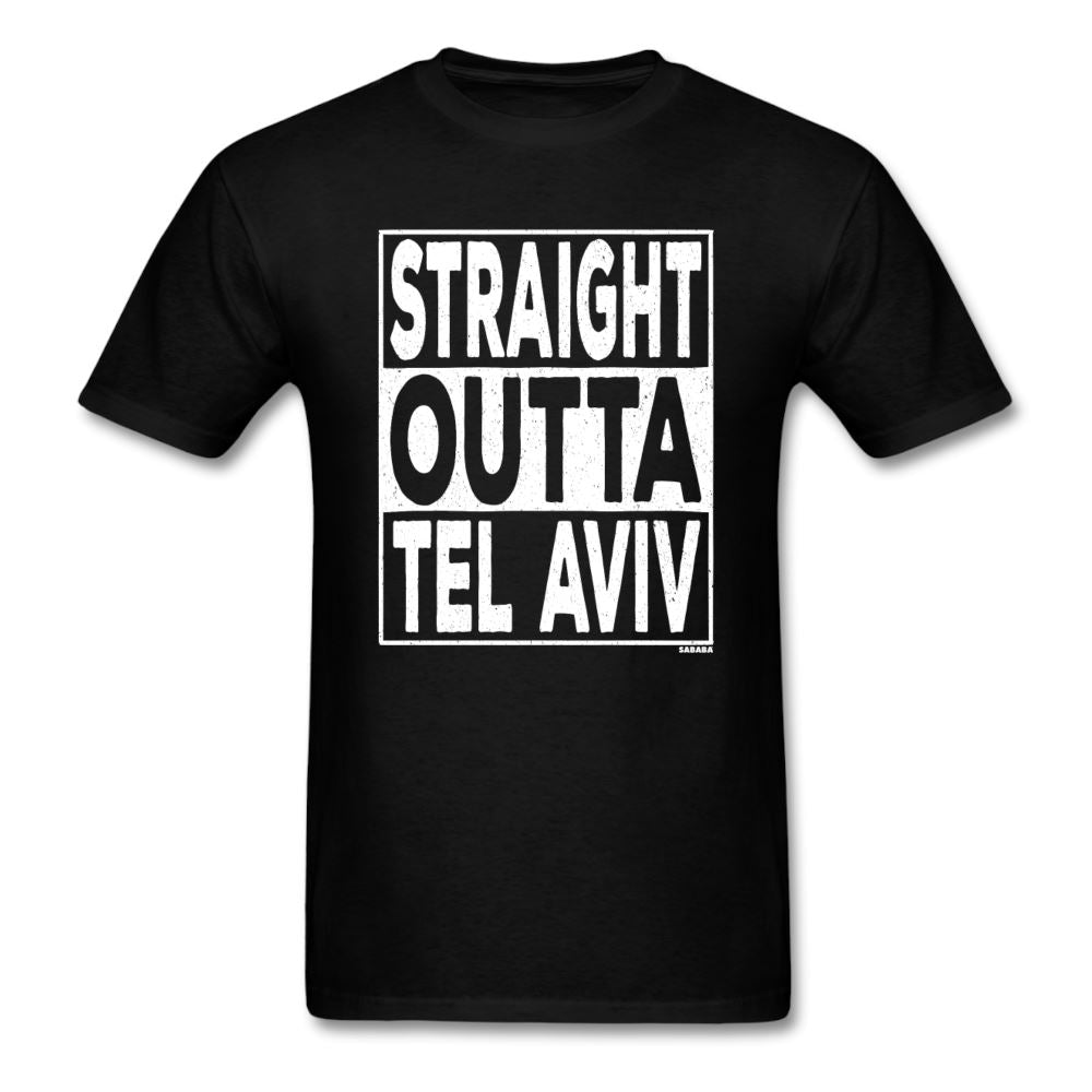 Straight Outta Tel Aviv Unisex T-Shirt - black