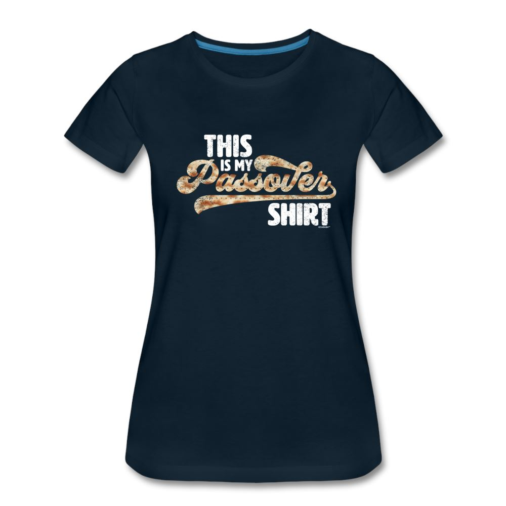 This Is My Passover Shirt Matzah Women's Premium T-Shirt - deep navy
