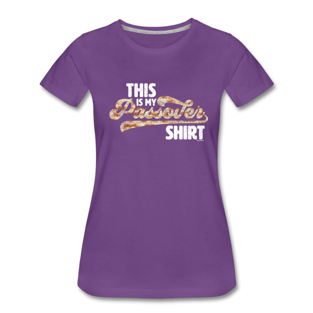 This Is My Passover Shirt Matzah Women's Premium T-Shirt - purple