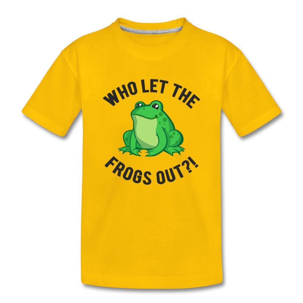 Who Let The Frogs Out?! Passover Kids' Premium T-Shirt - sun yellow