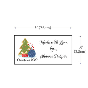 Cotton Christmas Sampler Large Label Set custom fabric labels for handmade items