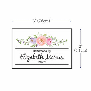 Cotton Floral Swag Label Set labels for handmade items
