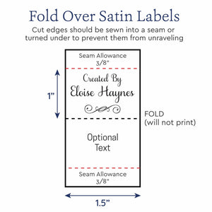 Satin Fancy Satin Tags personalized ribbon labels
