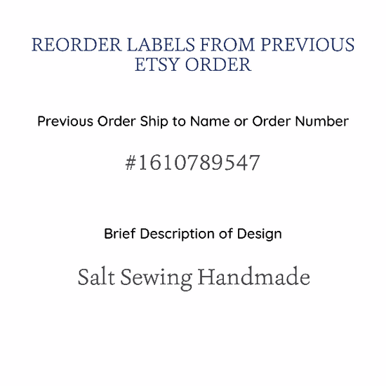 PPLR_HIDDEN_PRODUCT Reorder Satin Labels Previously Purchased on Etsy