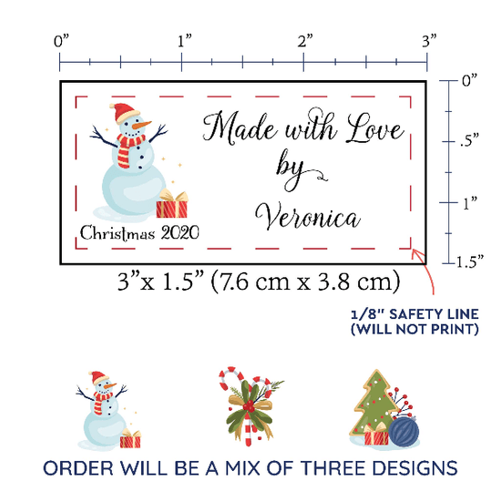 PPLR_HIDDEN_PRODUCT Christmas Sampler Large Label Set