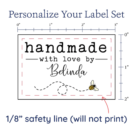 PPLR_HIDDEN_PRODUCT Flying Honeybee Label Set