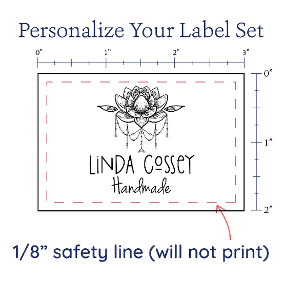 PPLR_HIDDEN_PRODUCT Boho Lotus Flower Label Set