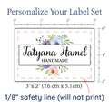 PPLR_HIDDEN_PRODUCT Watercolor Flowers Large Label