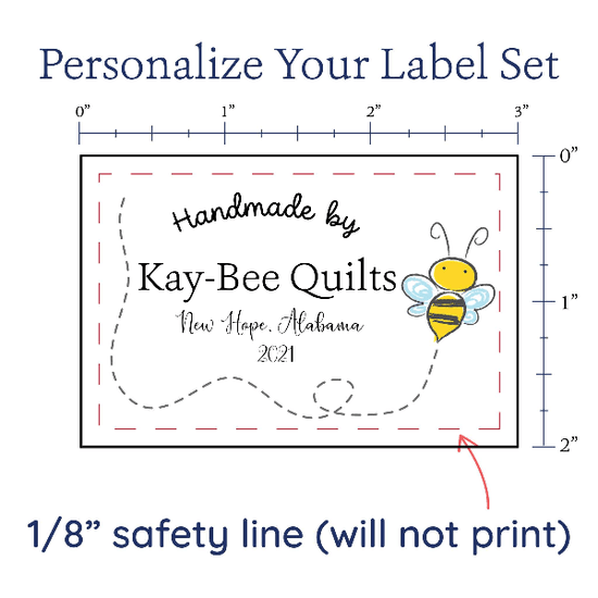PPLR_HIDDEN_PRODUCT Cute Buzzing Bee Large Label