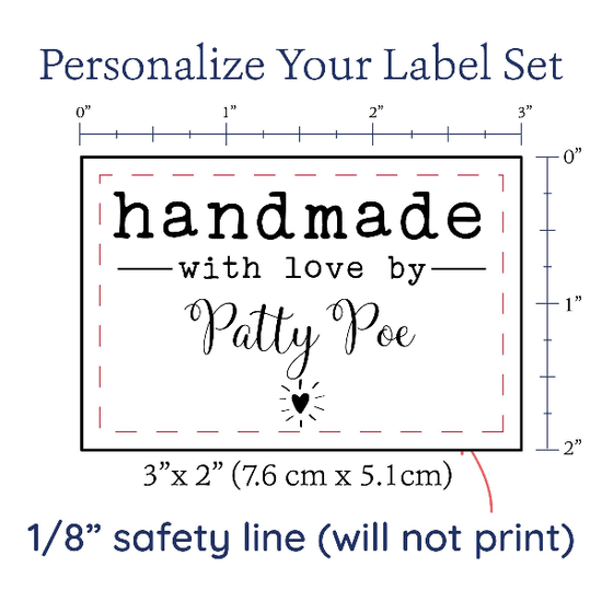 PPLR_HIDDEN_PRODUCT Modern Blanket Label with Heart