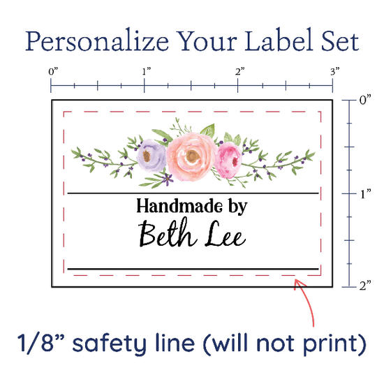 PPLR_HIDDEN_PRODUCT Floral Swag Label Set