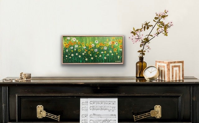 FLOWER HERBS - part of my garden series (framed)