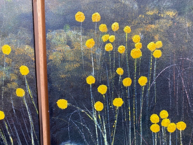 Billy Buttons of the High Plains - Triptych