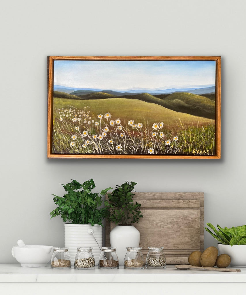 BILLY BUTTONS ON BOGONG - framed