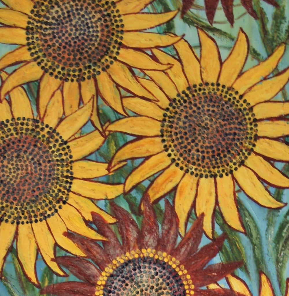 Dancing Sunflowers (1 of 2)-SOLD-