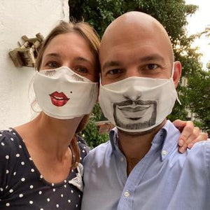 """Finally a mask that is fun to wear and through which you can also breathe great! We ordered several ...;) """