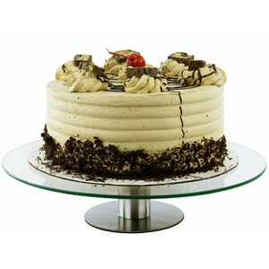 "Rotating Small Cake Turntable Display Pedestal Stand 12"" - Daniels Store"