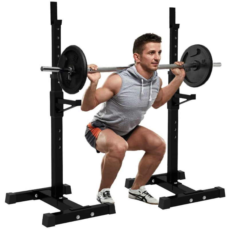 Portable Home Gym Adjustable Half Squat Rack Stand - Daniels Store