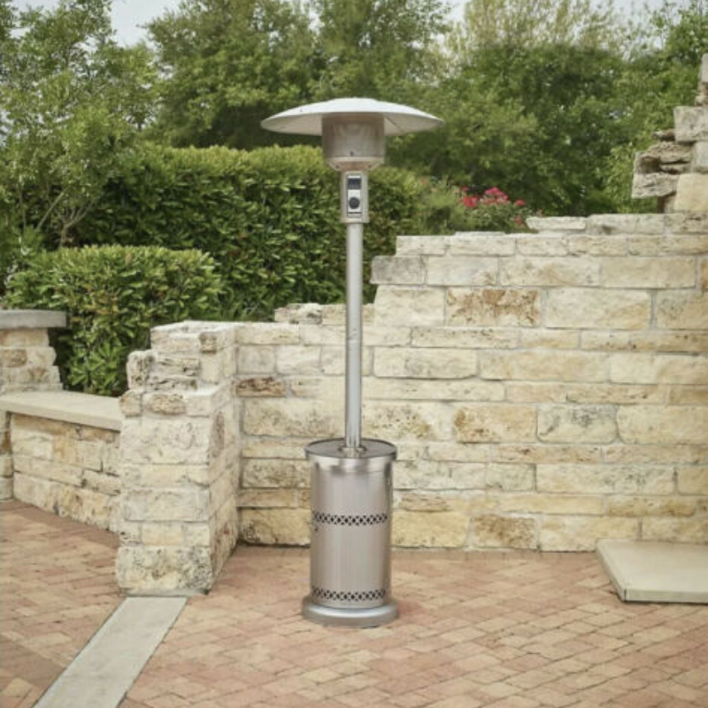 Powerful Stainless Steel Outdoor Patio Propane Heater 48,000 BTU - Daniels Store