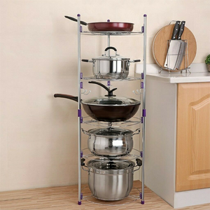Large 5 Tier Pots And Pans Storage Organizer Rack - Daniels Store