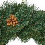Decorative Pre-Lighted Pine Christmas Wreath 24 in
