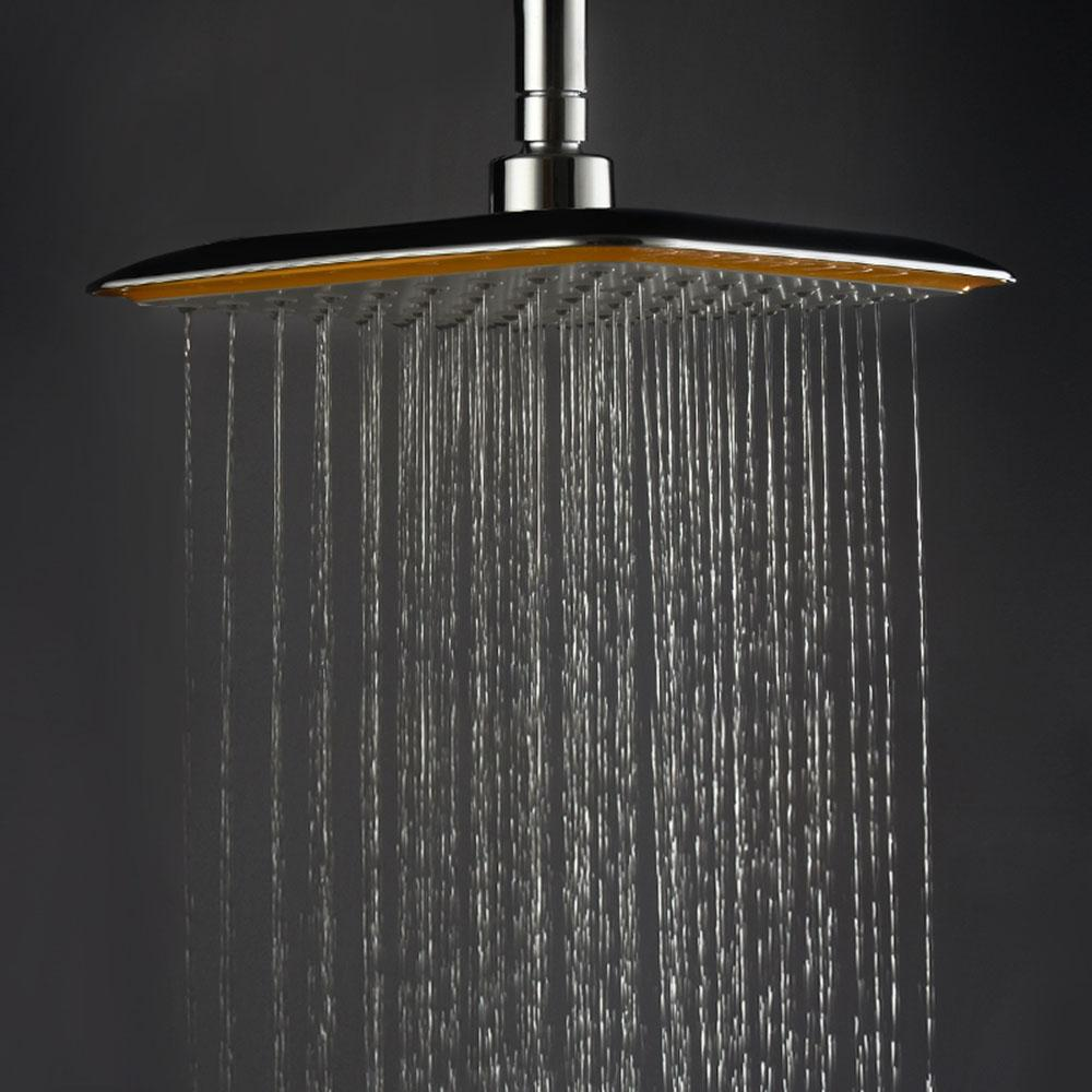 Rainfall Shower Head Square Stainless Steel - Daniels Store