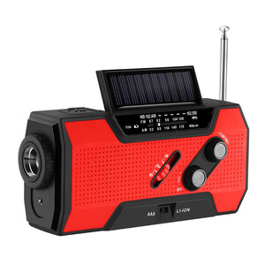 Solar Powered Emergency Hand Crank Survival Radio - Daniels Store