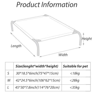 Soft Elevated Dog Cot Bed - Daniels Store