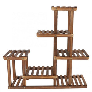 Large Multi Tiered Indoor Wooden Plant Stand - Daniels Store