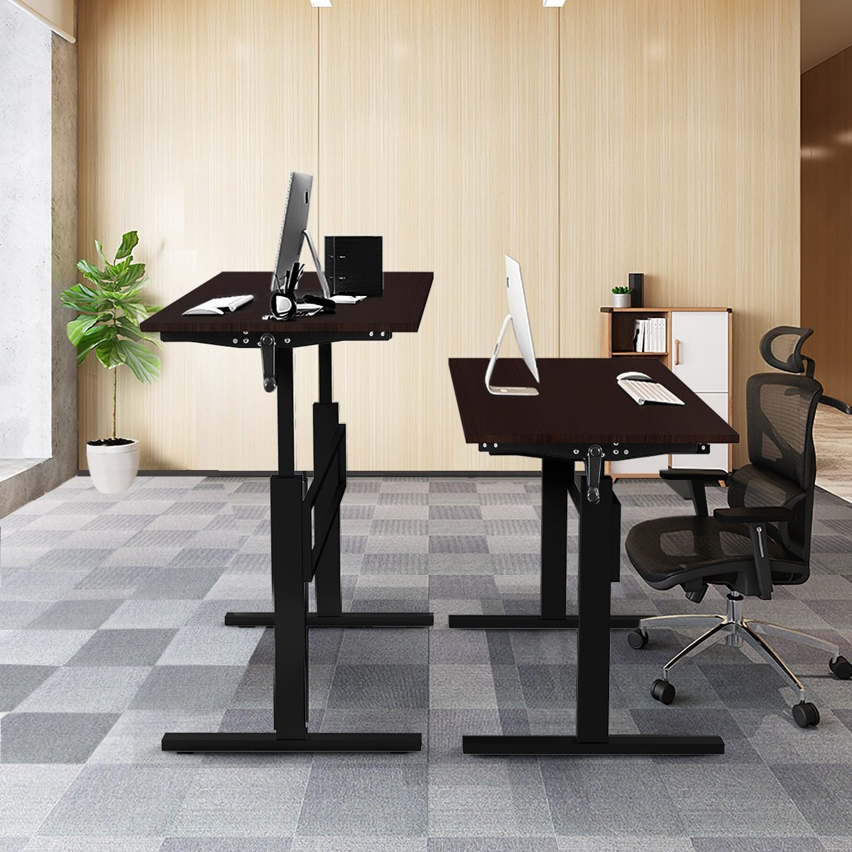 "Large Spacious Height Adjustable Standing Computer Desk 47"" - Daniels Store"