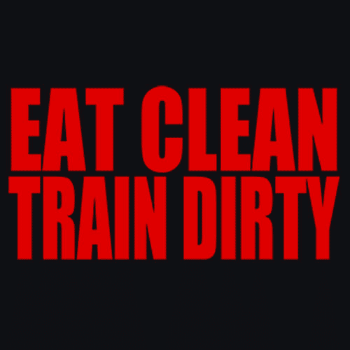 21e6022f Eat Clean Train Dirty T-Shirt Workout Crossfit|Tee Shirts – Textual Tees
