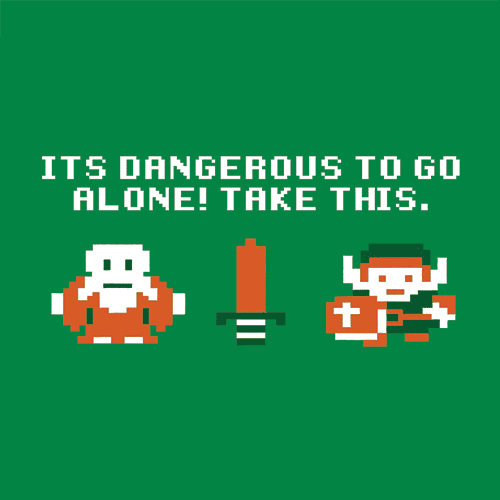It's Dangerous To Go Alone T-Shirt Mens T-Shirt - Textual Tees
