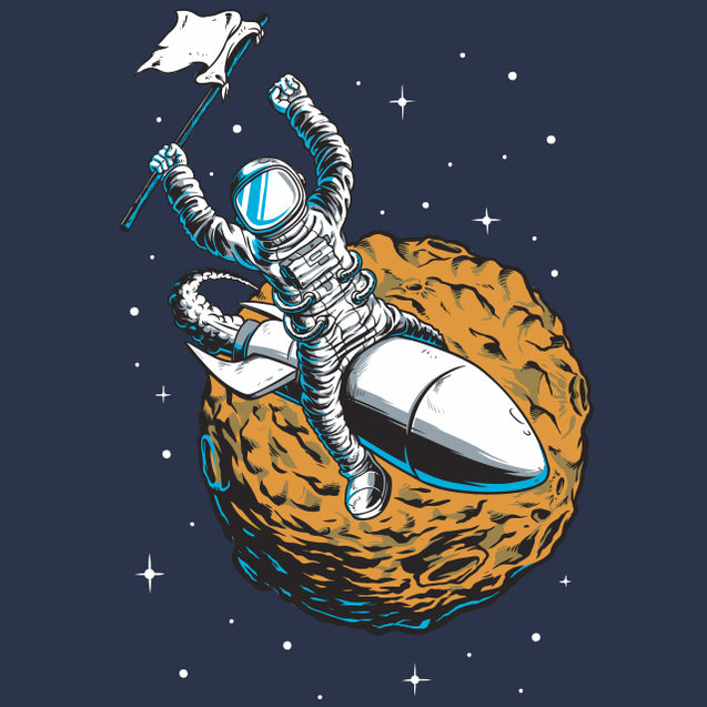 Rocket Rider T-Shirt Mens T-Shirt - Textual Tees