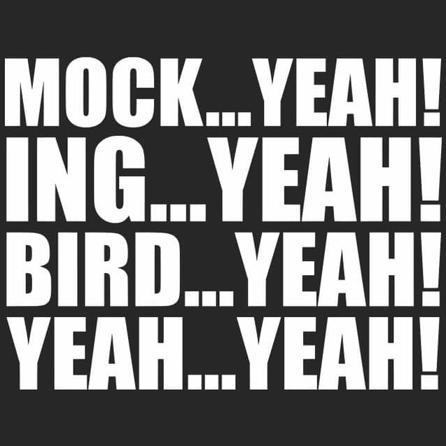 Mock Yeah ing Yeah Bird Yeah Dumb and Dumber T-Shirt Mens T-Shirt - Textual Tees