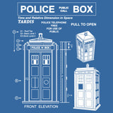 Police Box Tardis Blueprint T-Shirt Doctor Who