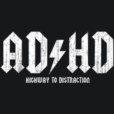 AD HD Highway To Distraction T-Shirts - Textual Tees