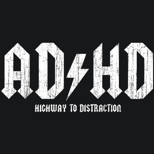 Adhd T Shirt Highway To Distraction Funny Textual Tees