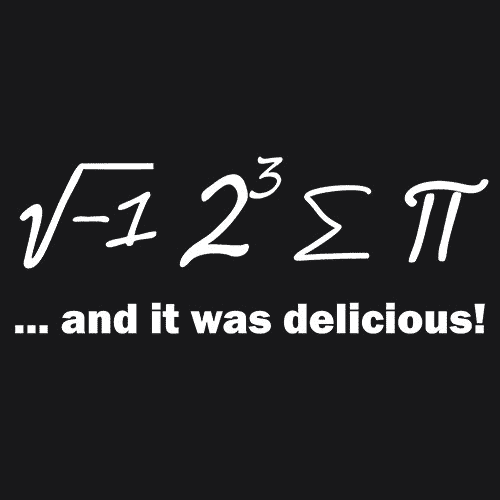 Ate Sum Pi And It Was Delicious T-Shirts - Textual Tees